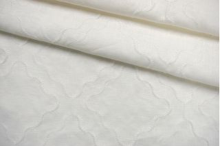 Лен бело-молочный с рельефным узором BRS-E40 19022137