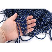 Шнурок Simonetta синий с желтыми полосками 98 см PRT 22062116