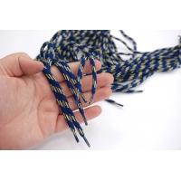 Шнурок синий с желтыми полосками 86 см PRT 22062117