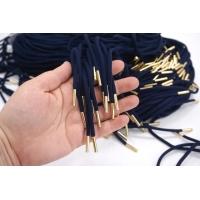 Шнурок синий с золотыми эглетами 120 см PRT 22062122