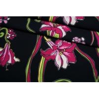 Хлопок костюмно-плательный фактурный цветочный IDT-G7 23022101