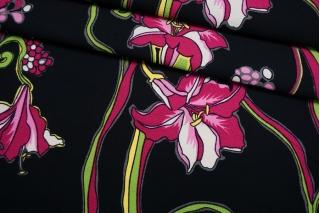 Хлопок костюмно-плательный фактурный цветочный IDT-C40 23022101