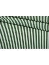 Штапель вискозный в полоску бело-зеленый IDT-H4 23022102