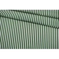 Штапель вискозный в полоску бело-зеленый IDT-i60 23022102
