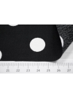 Вискоза креповая в горох черно-белая IDT-H3 23022104