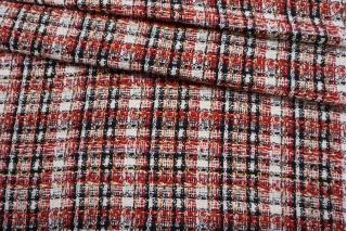 Твид-шанель черно-красно-белый с люрексом CVT-C5 25022107