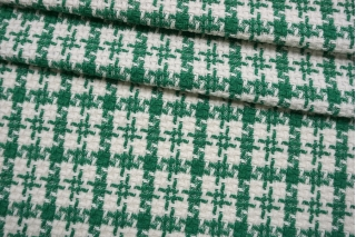 Твид-шанель зелено-белый CVT-F50 25022111