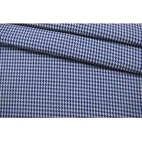 Хлопок костюмный гусиная лапка сине-белый IDT-F50 25022113