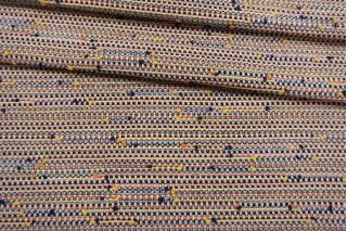 Твид-шанель сине-оранжевый плюмети CVT-F60 25022114