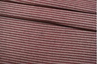 Костюмный хлопок красно-белый IDT.H-F40 25022116
