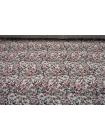 Плательная вискоза атласная цветы на кремовом CMF-H50 30012135