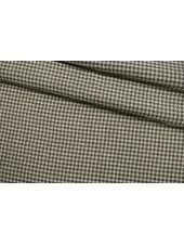 Лен костюмно-плательный гусиная лапка молочно-зеленый CMF-H7 30012139