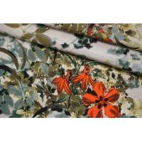 Плотный плательный шелк (органза) цветочный SMF-M60 30012177