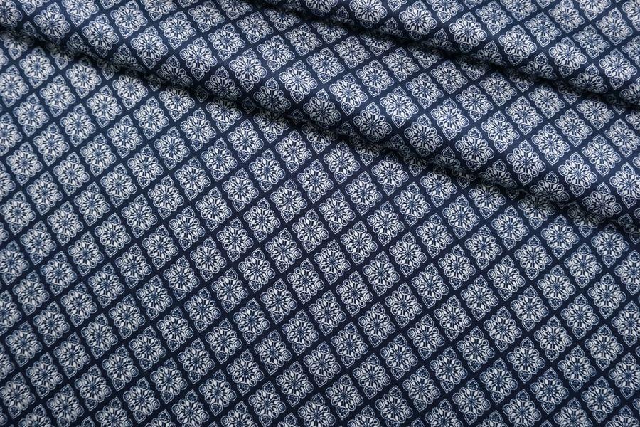 Атлас шелковый синий SMF-M30 30012178