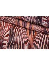 Крепдешин тонкий красный орнамент SMF-AA4 30012182