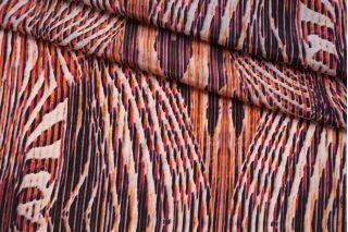 Крепдешин тонкий красный орнамент SMF-N40 30012182