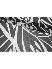 Шифон шелковый черно-белый абстракция MII-N40 07082119