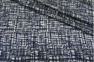 Атласный шелк синяя абстракция MII-N40 07082120