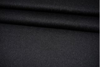 Пальтовая черная шерсть с альпакой на дублерине BRS-W30 26072101