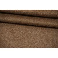 ОТРЕЗ 0,55 М Пальтовая шерсть с альпакой на дублерине коричневый camel BRS-(15)- 26072103-1