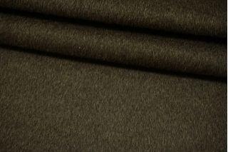 Пальтовая болотно-зеленая шерсть с альпакой на неопрене и дублерине BRS-V30 26072106