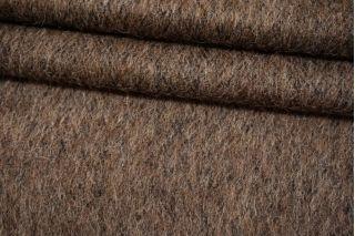 Тонкая пальтовая шерсть коричневая в елочку Fendi BRS-U50 26072114