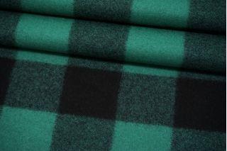 Пальтовое сукно в клетку черно-изумрудное Fendi BRS-V20 26072118