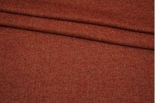 Твид костюмный в елочку бордово-оранжевый Fendi BRS-U50 26072124