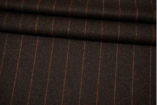 Фланель с кашемиром темно-коричневая в полоску Fendi BRS-EE40 26072130