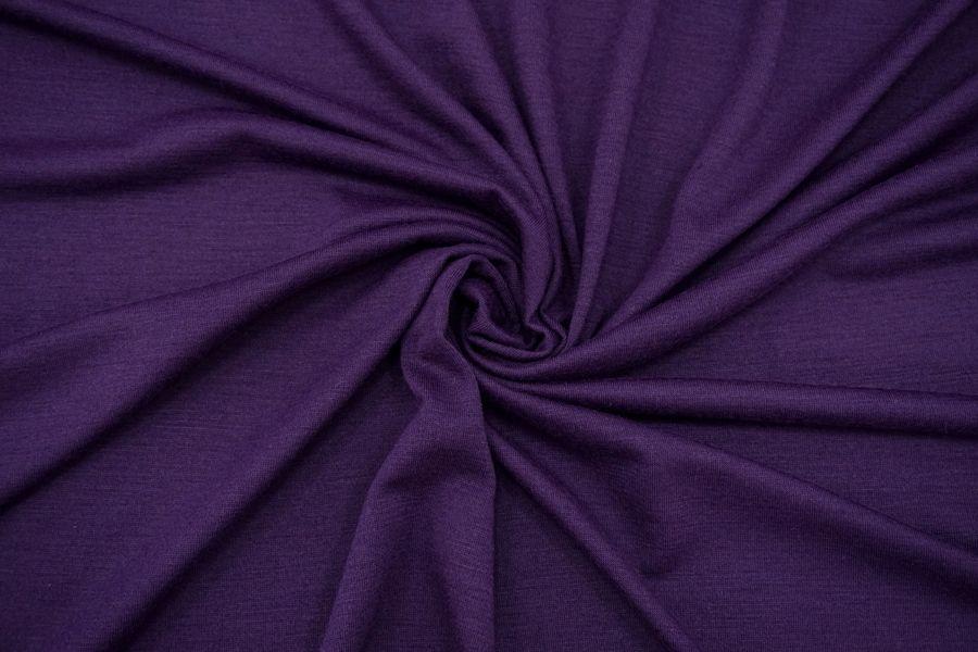 Трикотаж тонкий шерстяной фиолетовый BRS-X20 26072149