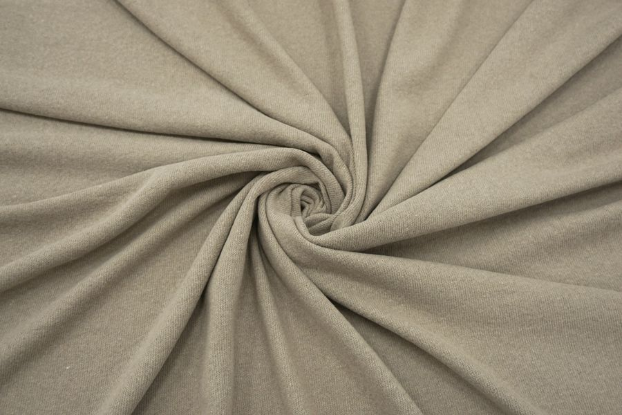 ОТРЕЗ 2,4 М Трикотаж хлопок с шерстью серо-бежевый BRS-(56)- 26072154-2