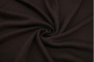 Трикотаж вязаный шерстяной темо-коричневый BRS-Z26 26072155