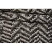 Трикотаж в елочку черно-белый BRS-X30 26072156