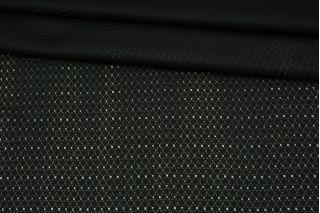 Плательный шелк черно-зеленый орнамент КУПОН Fendi BRS-M40 26072159