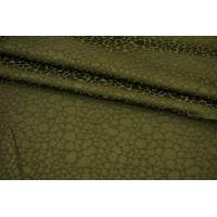 Фактурная вискоза плательная зеленая Fendi BRS-J40 26072169