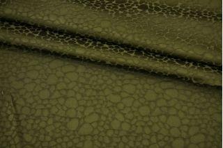 Фактурная вискоза плательная зеленая Fendi BRS-J30 26072169