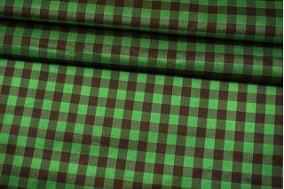 Плательно-рубашечный шелк в клетку коричнево-зеленый Fendi BRS-M60 26072173