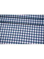 Хлопок рубашечный в клетку бирюзово-фиолетовый FRM-A10 29072105