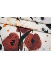 Хлопок фактурный абстрактные цветы IDT-D30 23042103