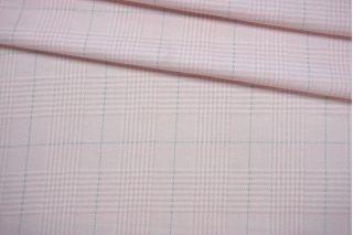 Хлопок плательный гленчек бело-розовый IDT-B60 25032141