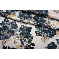 Плательно-блузочный сатин вискозный цветы IDT-H40 25032143