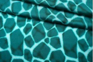 Плательно-блузочный сатин вискозный морские блики IDT-H3 25032149
