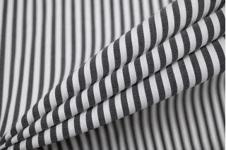 Хлопок рубашечный в полоску черно-белый IDT-A70 25032155