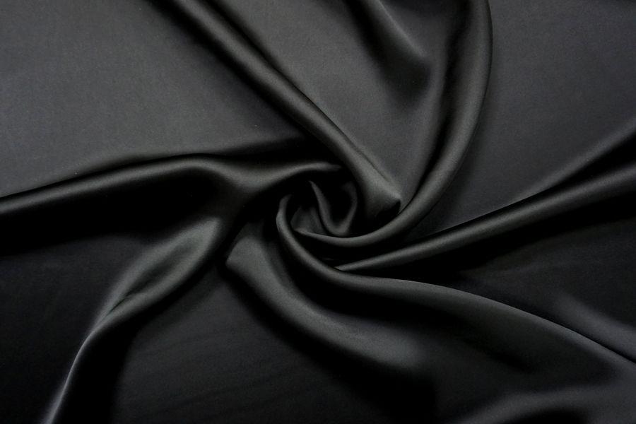 Плательный сатин вискозный черный BRS-H50 26022114