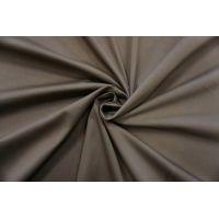 Сатин-стрейч хлопковый плательный коричневато-серый BRS-C40 26022130