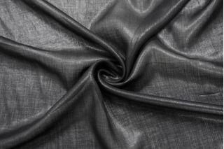 Вуаль льняная черная с блеском NST-E60 26022145