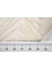 ОТРЕЗ 1,75 М Шифон шелковый с флоковым узором молочный NST-(55)- 26022165-3