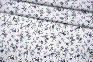 Хлопок рубашечный цветочки на белом фоне NST-A50 26022168