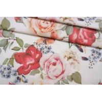 Костюмно-плательный хлопок под джинсу цветочный NST-W1 26022183