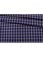 Хлопок рубашечно-плательный в клетку бело-фиолетовый NST 26022190
